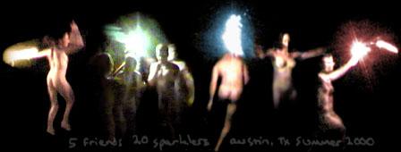 sparklers, austin, 2000