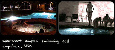 apartment complex swimming pool, anywhere USA
