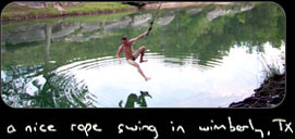 a nice rope swing in wimberly texas