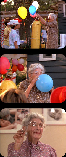 grandma sucking helium