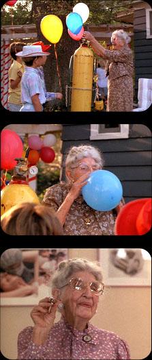 grandma sucking helium